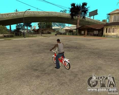 Tair GTA SA Bike Bike for GTA San Andreas left view