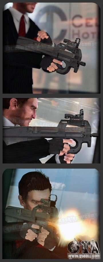 FN P90 for GTA 4 forth screenshot