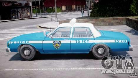 Chevrolet Impala Police 1983 v2.0 for GTA 4 side view