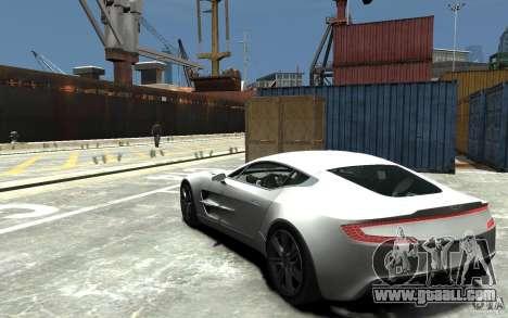 Aston Martin One 77 for GTA 4 back left view