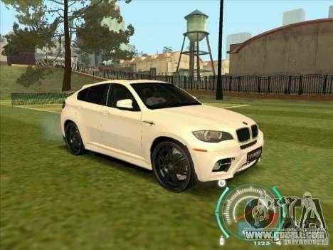BMW X6 M Hamann Design for GTA San Andreas right view