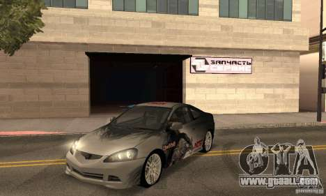 Acura RSX New for GTA San Andreas upper view