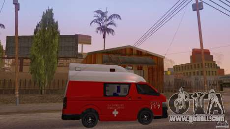 Toyota Hiace Philippines Red Cross Ambulance for GTA San Andreas right view