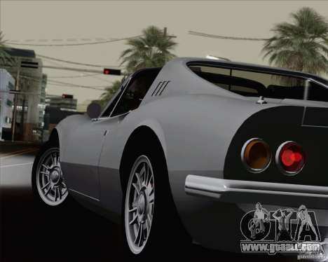 Ferrari 246 Dino GTS for GTA San Andreas bottom view
