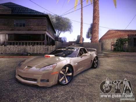 Chevrolet Corvette C6 Z06 Tuning for GTA San Andreas left view