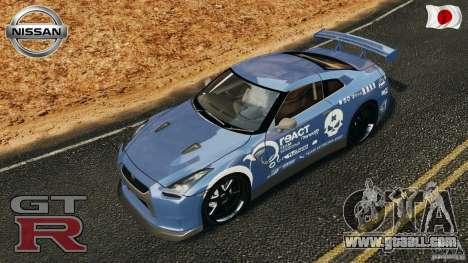 Nissan GT-R 35 rEACT v1.0 for GTA 4 interior