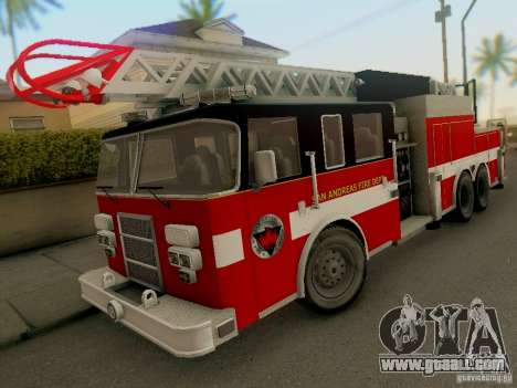 Pierce Firetruck Ladder SA Fire Department for GTA San Andreas
