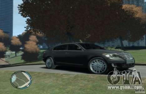 Hyundai Genesis Sedan Elite for GTA 4 back left view