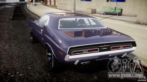 Dodge Challenger 1971 for GTA 4 back left view
