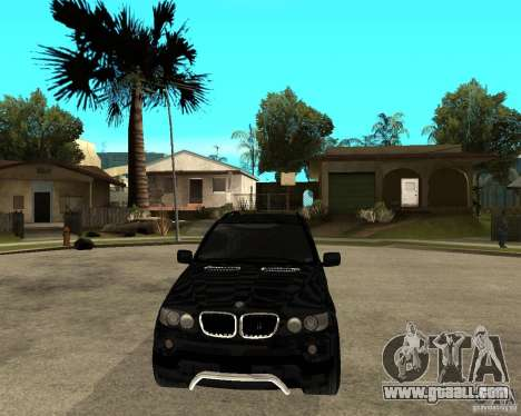 BMW X5 for GTA San Andreas back view