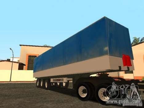 Semi-trailer for GTA San Andreas back view