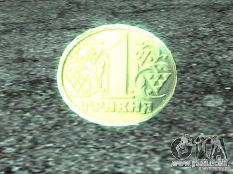 1 hryvnia for GTA San Andreas