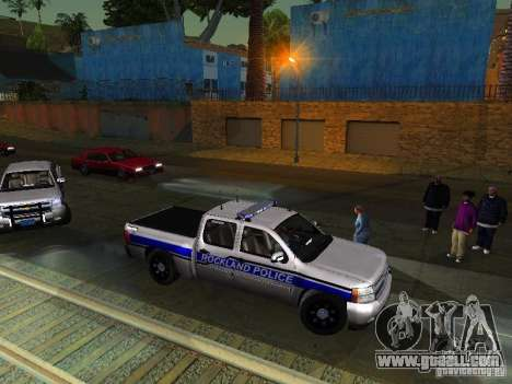 Chevrolet Silverado Rockland Police Department for GTA San Andreas left view
