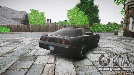 KITT Knight Rider for GTA 4 upper view