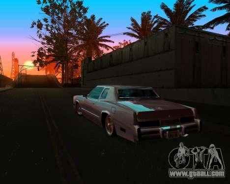 Cadillac Eldorado for GTA San Andreas upper view