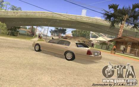 Lincoln Towncar Secret Service for GTA San Andreas inner view