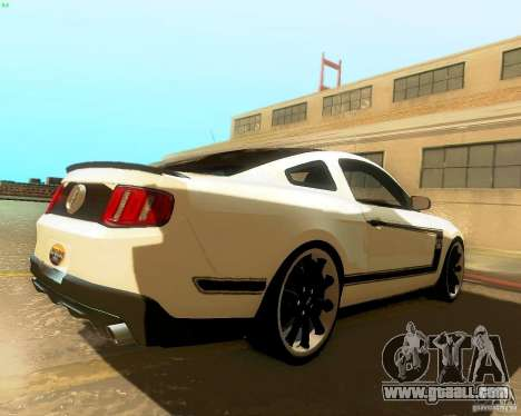 Ford Mustang Boss 302 2011 for GTA San Andreas back left view