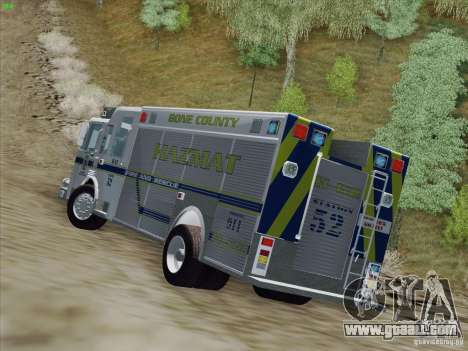 Pierce Fire Rescues. Bone County Hazmat for GTA San Andreas inner view