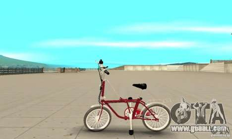 Child Bicycle for GTA San Andreas left view