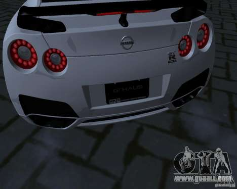 Nissan GTR-35 Spec-V for GTA San Andreas inner view