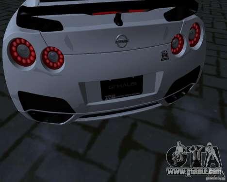 Nissan GTR-35 Spec-V for GTA San Andreas inner view