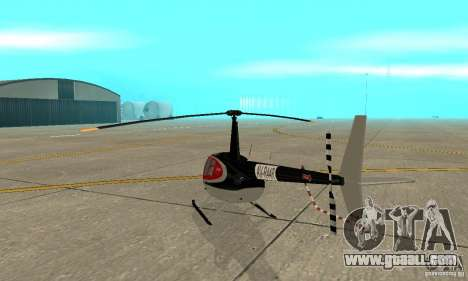 Robinson R44 Raven II NC 1.0 Skin 2 for GTA San Andreas right view