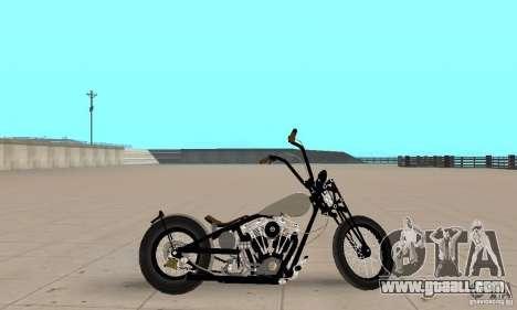 HD Shovelhead Chopper v2.1-chrome for GTA San Andreas back left view