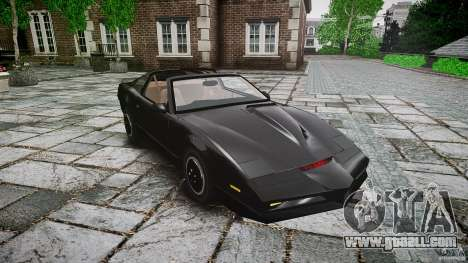 KITT Knight Rider for GTA 4 inner view