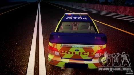 Subaru Impreza WRX Police [ELS] for GTA 4 upper view