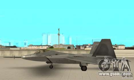 YF-22 Grey for GTA San Andreas left view