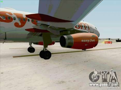 Airbus A319 Easyjet for GTA San Andreas inner view