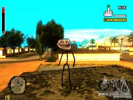 TrollFace skin for GTA San Andreas second screenshot