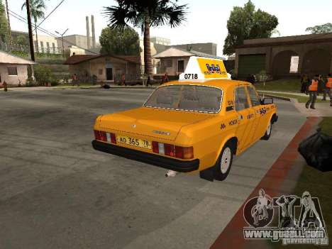 Volga GAZ 31029 Taxi for GTA San Andreas left view