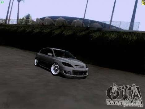 Mazda Speed 3 Stance for GTA San Andreas back view