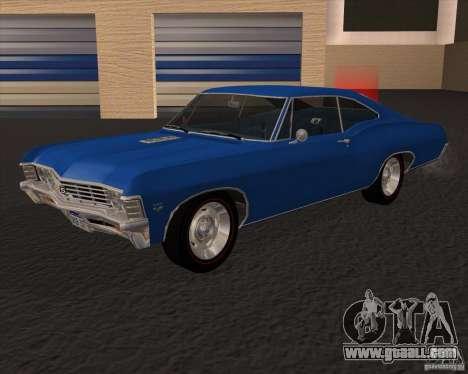 Chevrolet Impala 427 SS 1967 for GTA San Andreas