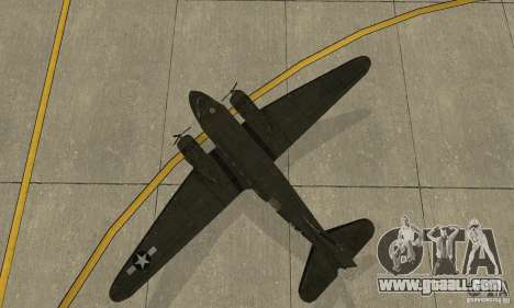C-47 Skytrain for GTA San Andreas back view