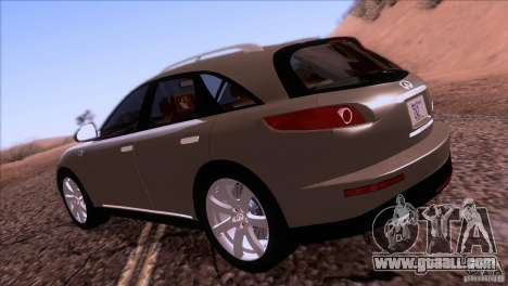 Infiniti FX45 2007 for GTA San Andreas right view
