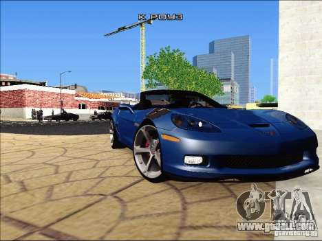 Chevrolet Corvette Grand Sport Cabrio 2010 for GTA San Andreas