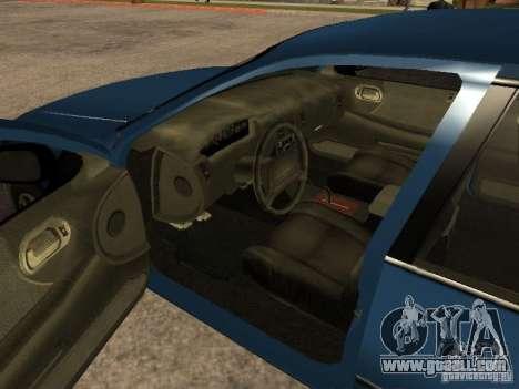 HD Kuruma for GTA San Andreas back left view
