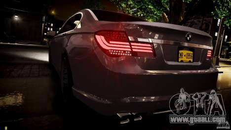 BMW 750Li Sedan ASANTI for GTA 4 interior