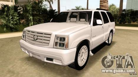 Cadillac Escalade for GTA Vice City back view