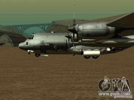 AC-130 Spooky II for GTA San Andreas back left view