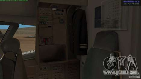 Boeing 757-200 Final Version for GTA San Andreas inner view