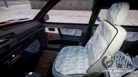Vaz-21093i for GTA 4 inner view