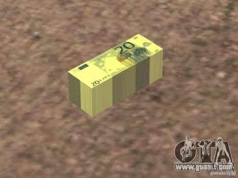 Euro money mod v 1.5 20 euros II for GTA San Andreas