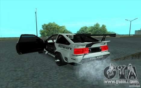 Toyota Corolla AE86 Shift 2 for GTA San Andreas inner view