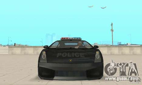 Lamborghini Gallardo Police for GTA San Andreas back view
