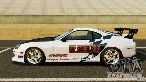 Toyota Supra Top Secret for GTA 4 left view