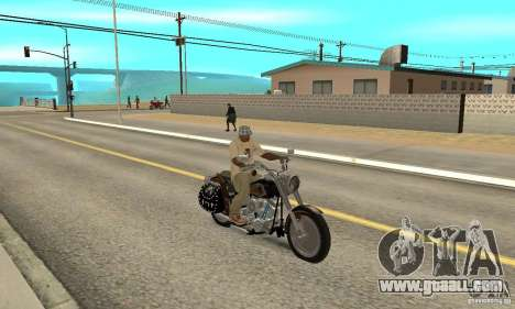 Harley Davidson FLSTF (Fat Boy) v2.0 Skin 5 for GTA San Andreas right view