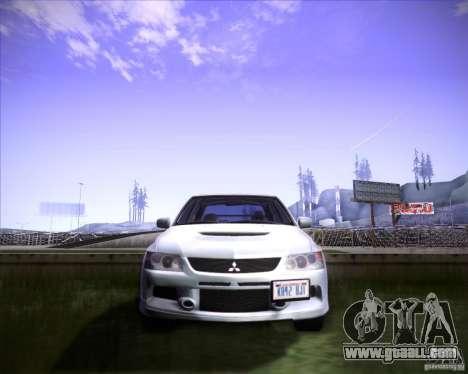 Mitsubishi Lancer Evolution VIII MR for GTA San Andreas back view